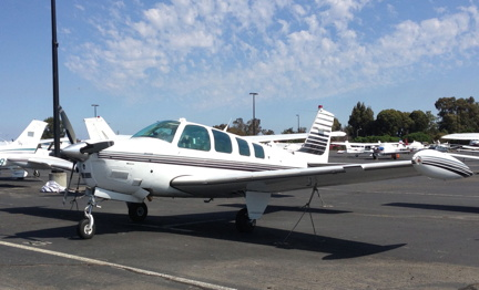 Sundance Flying Club, Palo Alto, CA - BE36 Beech Bonanza N58MS